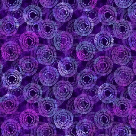 Purple Circle Burst 108in Wide Back
