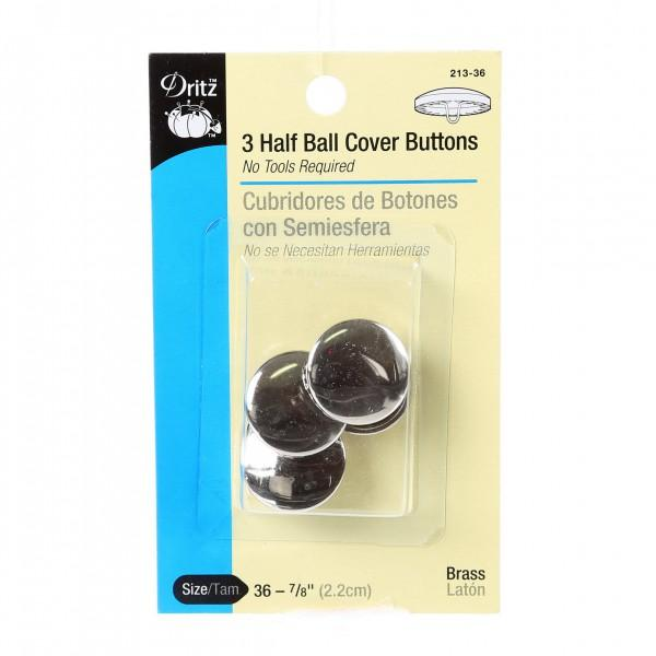 Button Cover Half Ball Size 36  - 7/8in