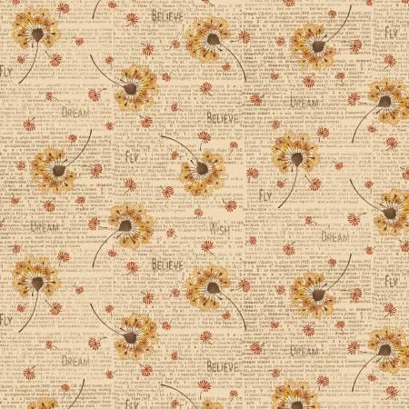 Itty Bitty Cream Dandelion Toss 2144-44