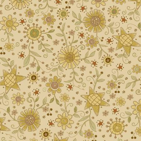 Cream All Over Flower 2145-44