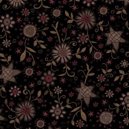 Black All Over Flower