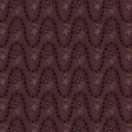 Itty Bitty  2146-55 (Purple wavy stripe  with flowers)