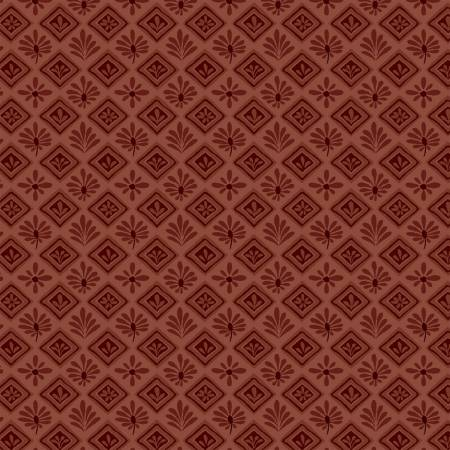 Itty Bitty Crazy - Red Geometric