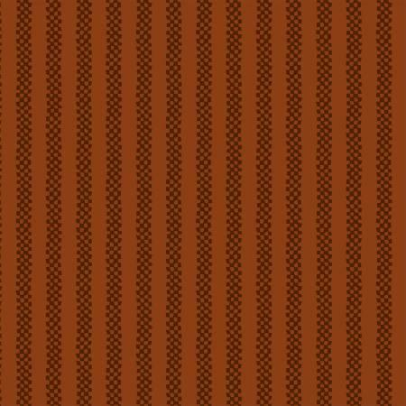 Pumpkin Checkerboard Stripe