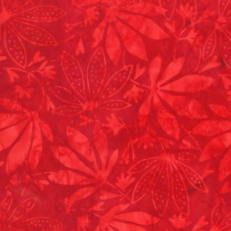 ANTH- Red Maple Leaves Batik