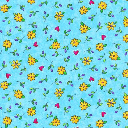 Aqua Floral Allover