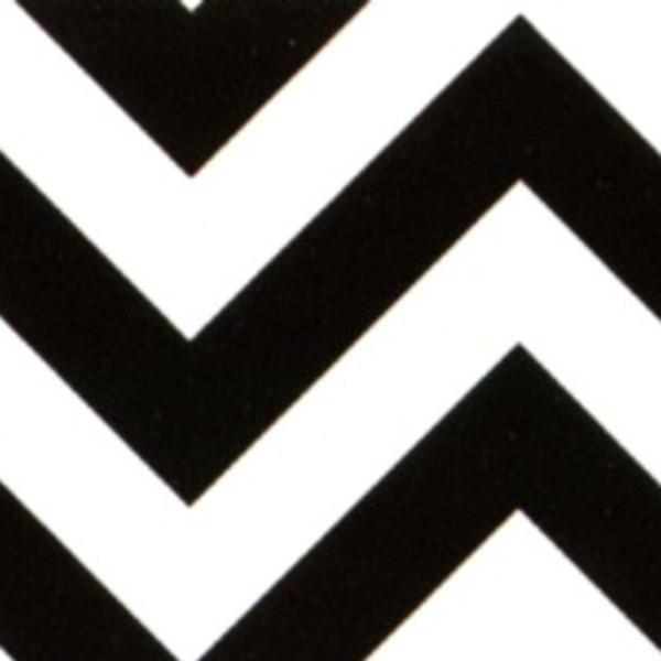 Black/White Chevron Flannel