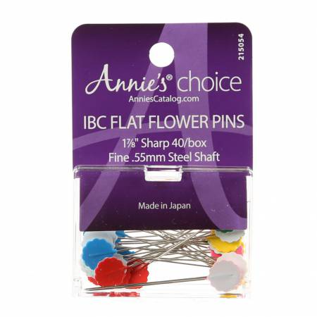 IBC Flower Head Plastic Flat Pin Size 30 - 1 7/8in 40ct