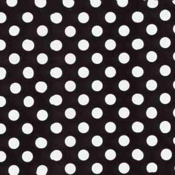 Black/White Polka Dot Flannel