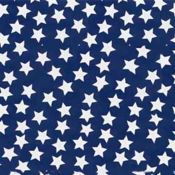 Navy/White Stars Flannel