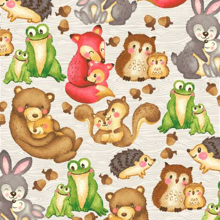 Hug and Loves Friendly Forest Animals