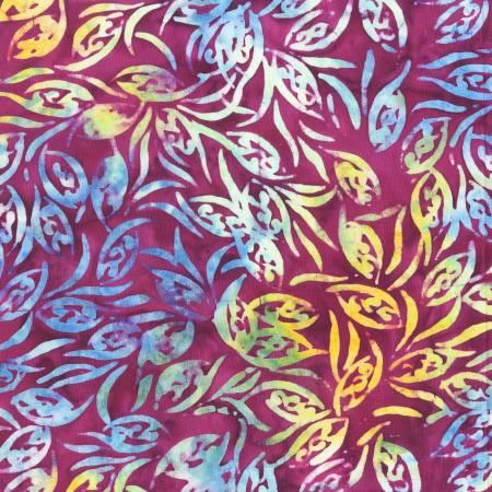 AF Waterlilies Plum Batik