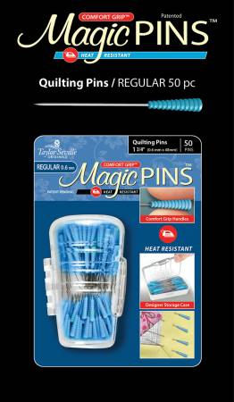 Magic Pins by Taylor Seville - 50 Heat Resistant Pins with Comfort Grip
