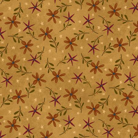 Gold Daisy Toss on Flannel