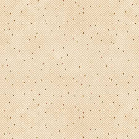 Cream Diamond Texture on Flannel