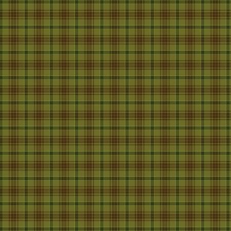 Green Printed Plaid on Flannel