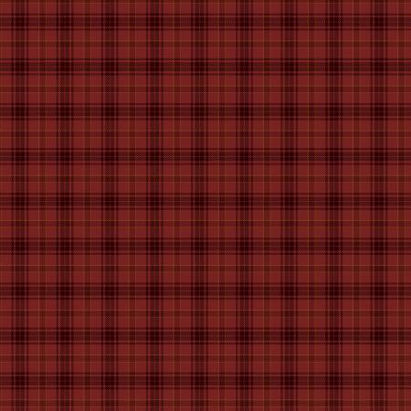 Red Printed Plaid on Flannel