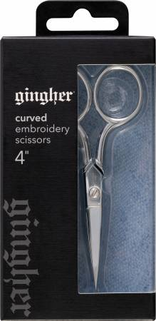 Gingher 4in Curved Embroidery Scissors