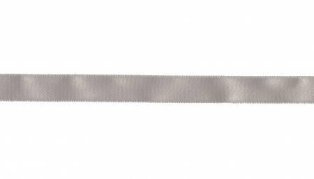 Silver 5/8in Satin Ribbon per yd