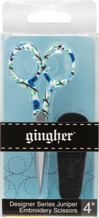 Gingher 4in Embroidery Scissors Juniper