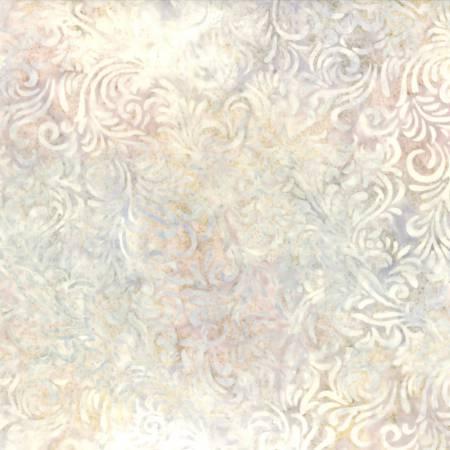 22035 131 Ivory/Pink Flourish Batik by Wilmington Batiks. 100% cotton batik 43 wide