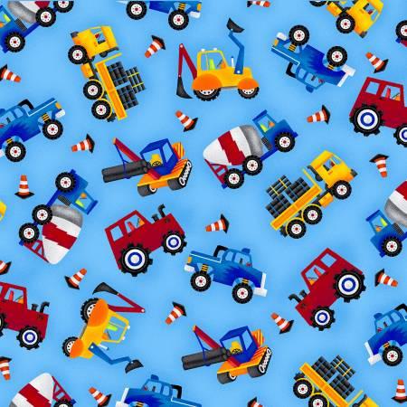 My Favorite TrucksBlue Tossed Allover Trucks