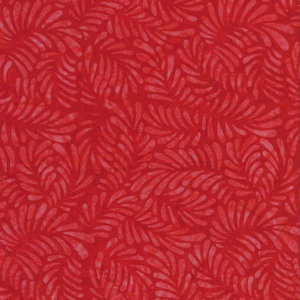 BATIK FEATHERS RED 22098300 Batavian Batiks