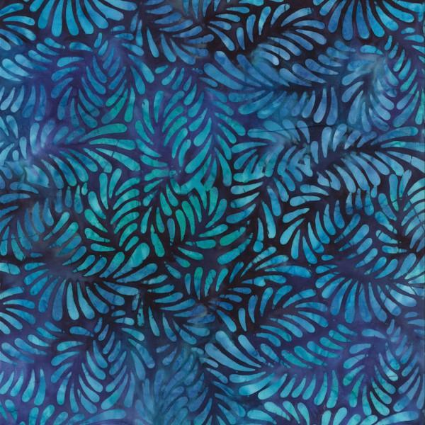 BATIK FEATHERS DARK BLUE 22098469 Batavian Batiks