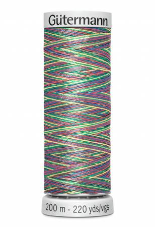 Dekor Rayon Embroidery Thread Variegated 200m/219yds Rainbow