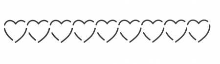 Quilt Stencil Heart Border 8in x 1in