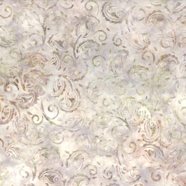 Ivory/Tan Paisley Batik