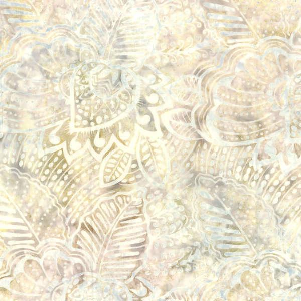 BATIK FRONDS IVORY/MAUVE 22111112 Batavian Batiks