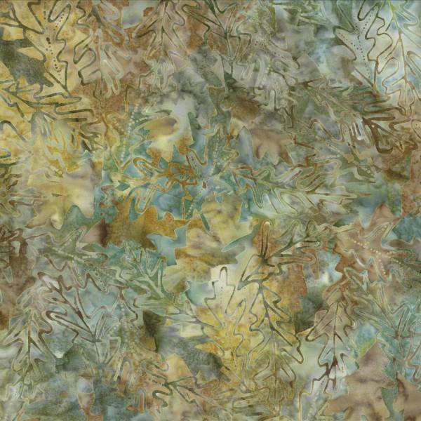 BATIK FOREST LEAVES GOLDEN SAGE 22116752 Batavian Batiks