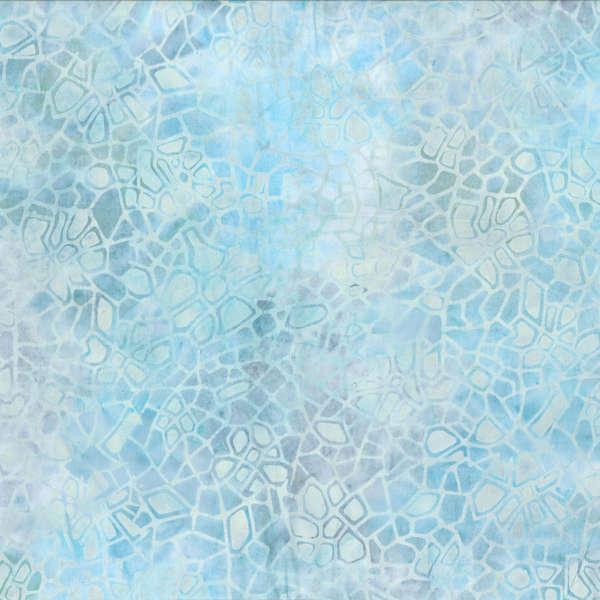 Pastel Blue Crackle Batik