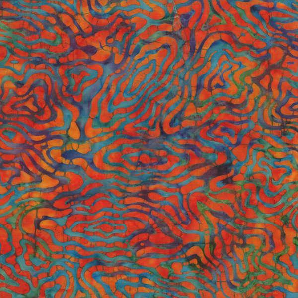 Orange/Blue Batik