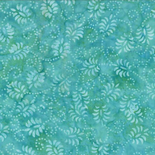 Blue Dancing Leaves Batik