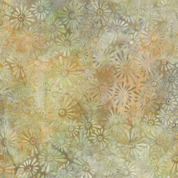 Tan Flower Field Batik