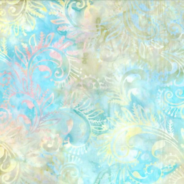 Aqua/Blue Florentine Batik