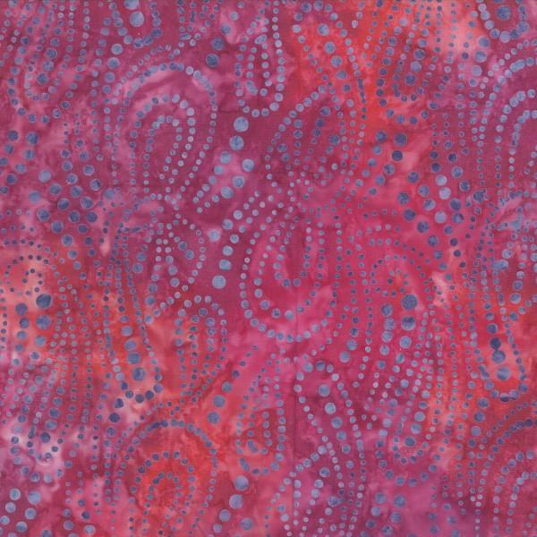Fuchsia Paisley Dot Batik