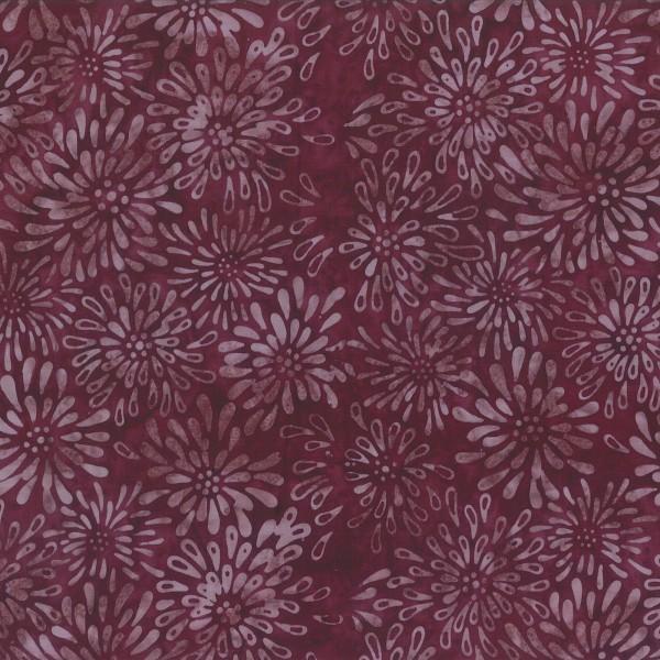 Batik plum/burgandy crysanthemums