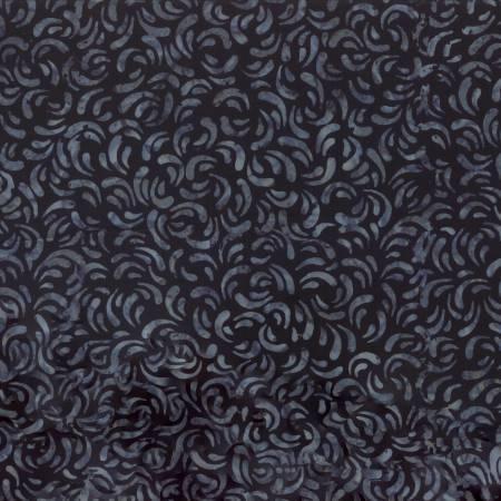 Batik black small swirl