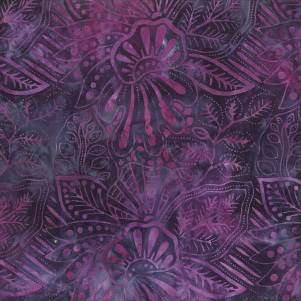 Batik - Large Floral Purple/Navy 22150 696