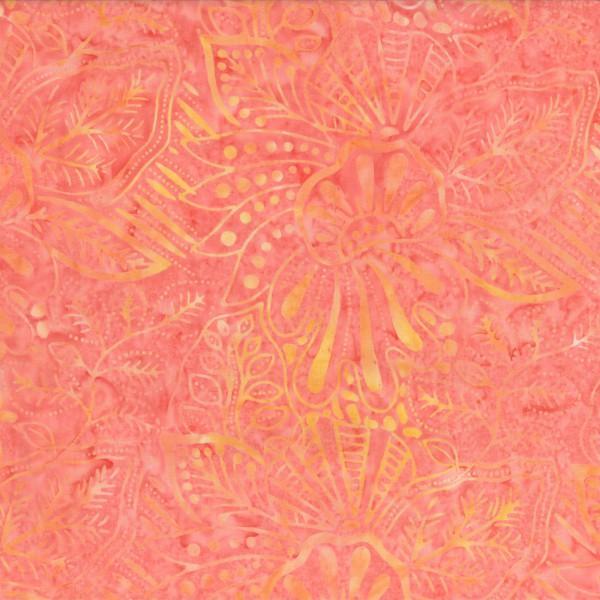 Batik - Large Floral Coral/Orange 22150 808