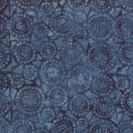 Blue Geo Circles Batik