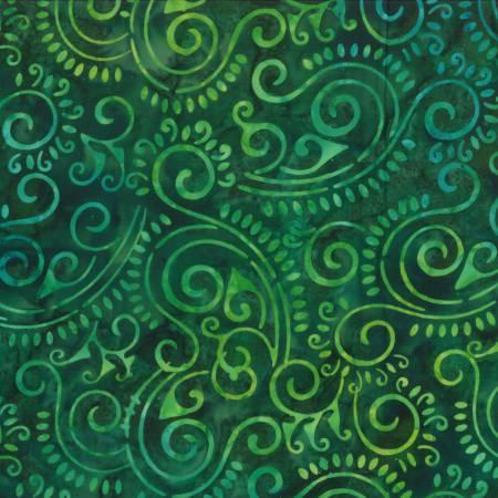 Green Batik Swirls