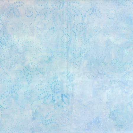 Light Blue Kaleidoscope Floral Batik
