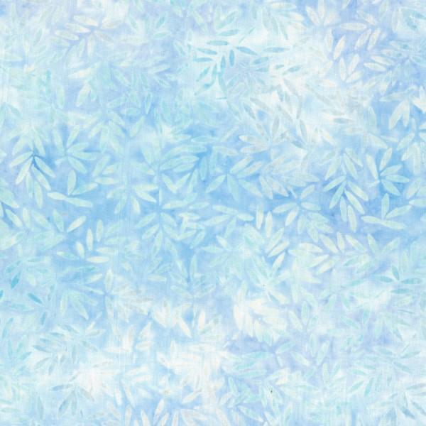 Wilmington Batiks - Light Blue Bamboo Leaves