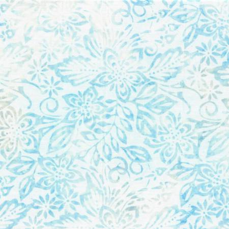 Light Blue Packed Floral Mix Batik