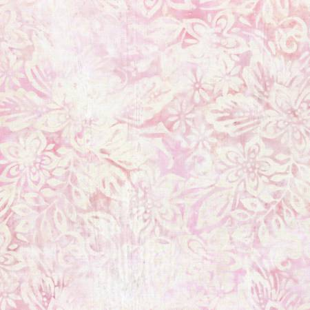Wilmington Batiks - Cream/Pink Packed Floral Mix