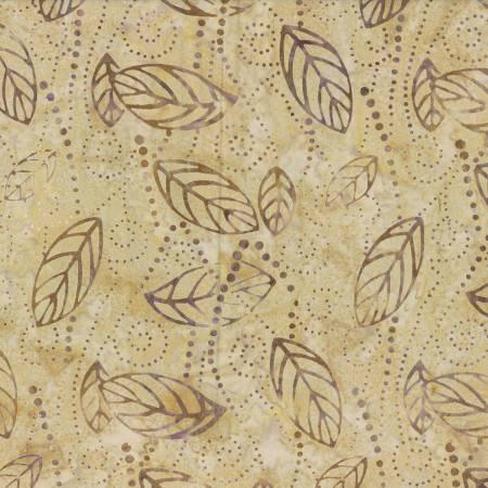 BATIK PURPLE/TAN  LEAVES 22178229 Wilmington Batiks